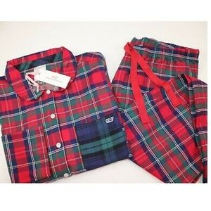 NWT Vineyard Vines 2XL XXL COZY Plaid Pajamas